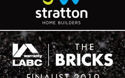 JW Stratton finalist for The Bricks 2019 Award